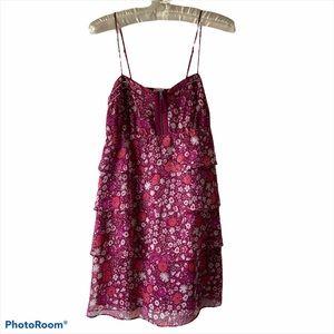 NWT AEO Floral Strap Tiered Dress Sz 2